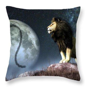 Leo Zodiac Symbol Throw Pillow by Daniel Eskridge