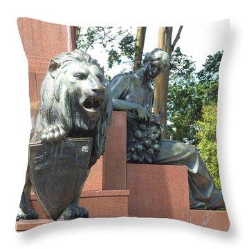 Leon Cre Throw Pillow