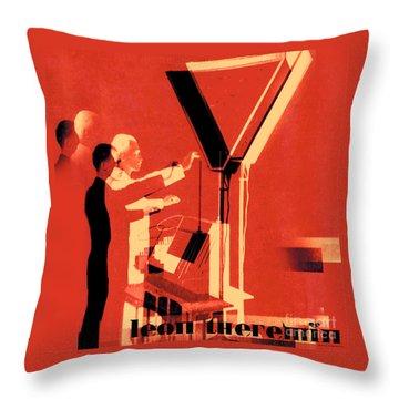 Leon Theremin Throw Pillow