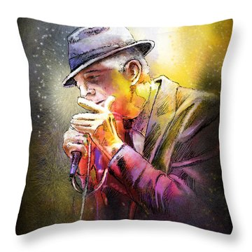 Leonard Cohen 02 Throw Pillow