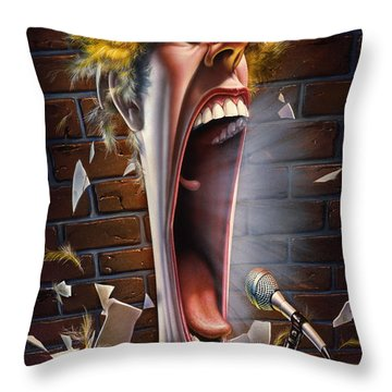 Leonard J. Waxdeck's 25th Annual Bird Calling Contest Throw Pillow