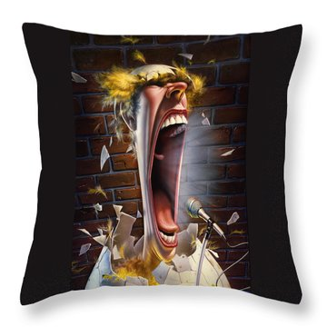 Leonard J. Waxdeck's 25th Annual Bird Calling Contest Throw Pillow by Mark Fredrickson