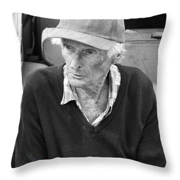 Leonard Knight Throw Pillow by Hugh Smith