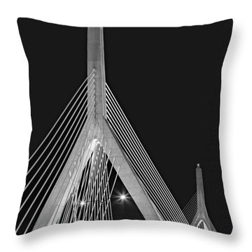 Leonard P. Zakim Bunker Hill Memorial Bridge Bw II Throw Pillow