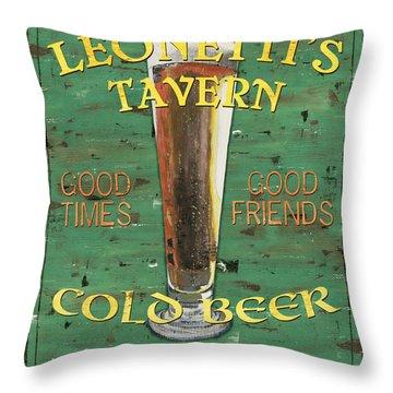 Leonetti's Tavern Throw Pillow by Debbie DeWitt