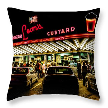 Leon's Frozen Custard Throw Pillow