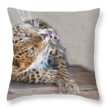 Leopard Craziness Throw Pillow