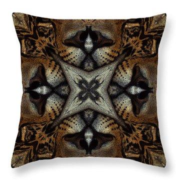 Leopard Kaleidoscope  Throw Pillow