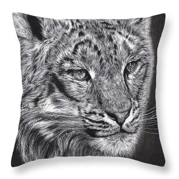 Adams Leopard - Pastel Throw Pillow