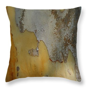 Leopard Tree Bark Abstract No.3 Throw Pillow by Denise Clark