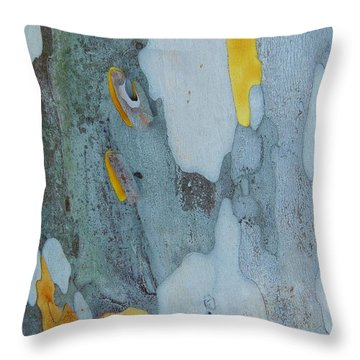 Leopard Tree Bark Abstract No 1 Throw Pillow