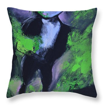 Leprechaun Throw Pillow by Donna Blackhall