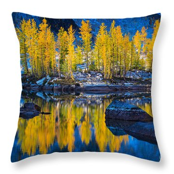 Leprechaun Tamaracks Throw Pillow by Inge Johnsson