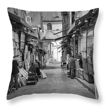 Les Artistes Throw Pillow by Eunice Gibb