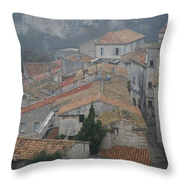 Les Baux Throw Pillow