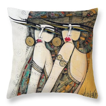 Les Demoiselles Throw Pillow