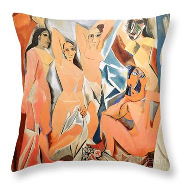 Les Demoiselles D'avignon Picasso Throw Pillow