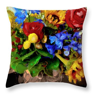 Les Fleurs Throw Pillow