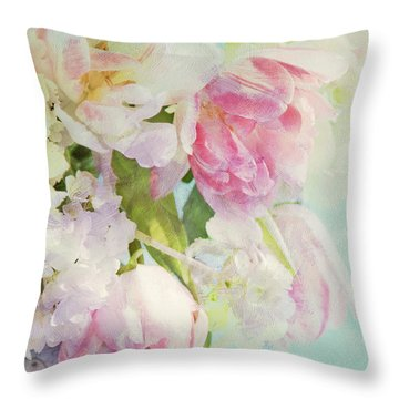 Les Fleurs Throw Pillow by Theresa Tahara