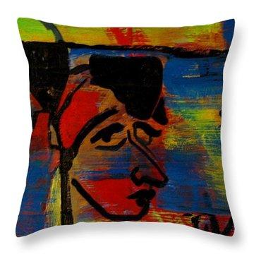 Les Gens A La Lac Two Throw Pillow by Grace Liberator
