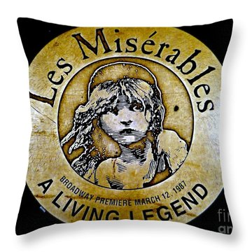 Les Miserables Throw Pillow by Ed Weidman
