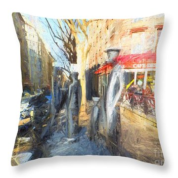 Throw Pillow featuring the photograph Les Mussulmans Boulevard Davout Paris by Jack Torcello
