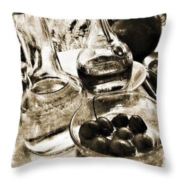 Les Olives Throw Pillow by Selke Boris