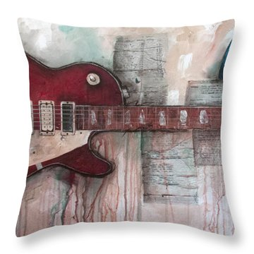 Les Paul Number 5 Throw Pillow