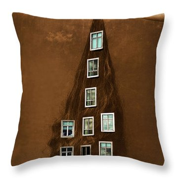 Les Promesses D'une Chevelure - Head Of Hair Promises Throw Pillow