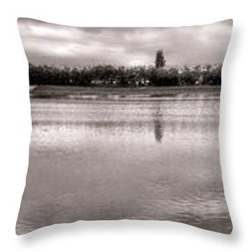 Les Templettes Et Le Bassin De La Sourderie Throw Pillow by Olivier Le Queinec