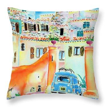 Les Voisins Throw Pillow