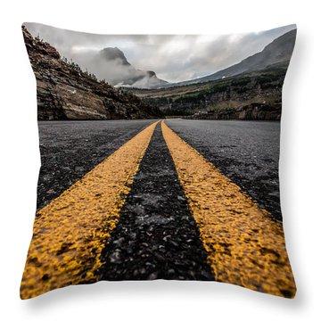 Less Traveled Throw Pillow