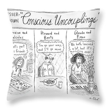 Lesser-known 'conscious Uncouplings Three Panels Throw Pillow