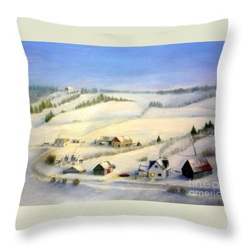 L'estrie Throw Pillow