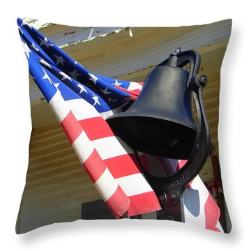 Let Freedom Ring Throw Pillow by Lew Davis