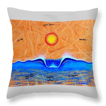 Let Go And Grow Throw Pillow