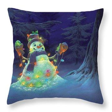 Let It Glow Throw Pillow