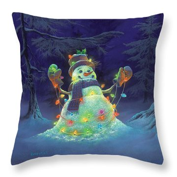 Let It Glow Throw Pillow