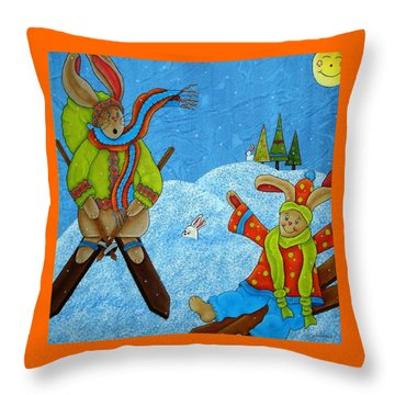 Let It Snow Throw Pillow by Tracy Campbell