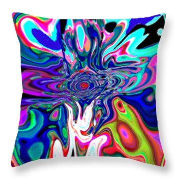Jesus Talks Cross Original Contemporary Modern Abstract Expressionism Art Painting.  Throw Pillow