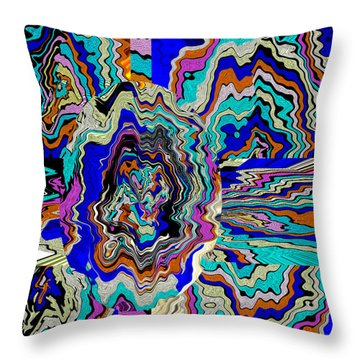 Original Abstract Art Painting Let Life Bloom Throw Pillow