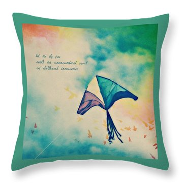 Let Me Fly Free Throw Pillow