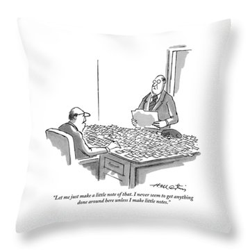 Let Me Just Make A Little Note Of That Throw Pillow