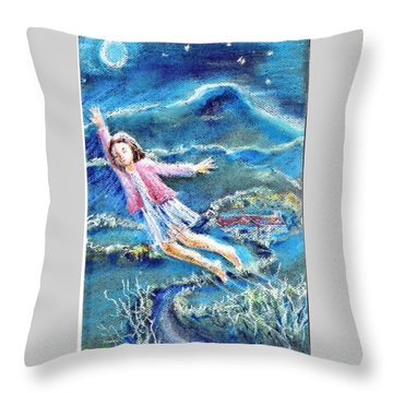 Throw Pillow featuring the painting Let Me Play Among The Stars  by Trudi Doyle