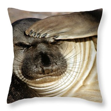 Let Me Think... Throw Pillow