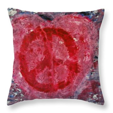 Let Peace Flow Through Love Throw Pillow