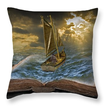 Let The Adventure Begin Throw Pillow