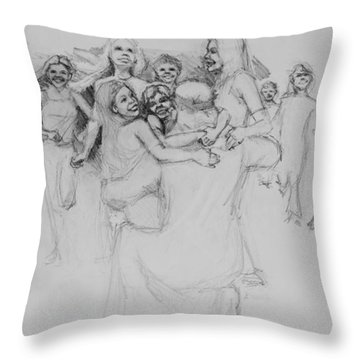 Let The Children Come Throw Pillow