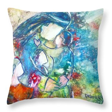 Let The Children Come To Me Throw Pillow