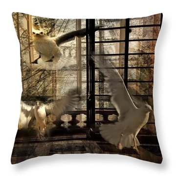 Let The Freedom In Throw Pillow